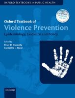 Oxford Textbook of Violence Prevention PDF