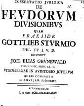 Diss. ... de feudorum divisionibus