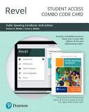 Revel for Public Speaking Handbook    Combo Access Card PDF