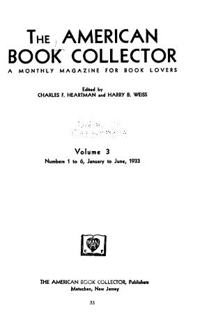 The American Book Collector PDF