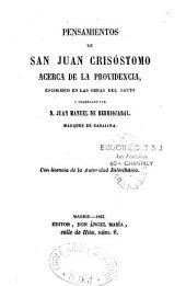 Pensamientos de San Juan Crisóstomo