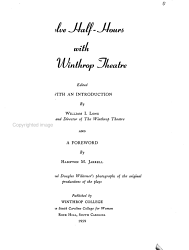Twelve Half Hours With The Winthrop Theatre Book PDF