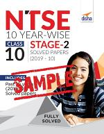 (FREE SAMPLE) NTSE 10 Year-wise Class 10 Stage 2 Solved Papers (2010 - 19)
