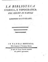 La Biblioteca storica e topografica del regno di Napoli