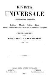 Rivista universale: pubblicazione periodica, Volume 6