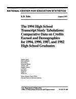 The 1994 High School Transcript Study Tabulations