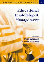 Learning to Read Critically in Educational Leadership and Management PDF