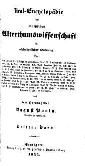 Real-Encyclopädie der classischen Alterthumswissenschaft: Band 4