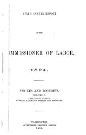 Annual Report of the Commissioner of Labor: Volume 10, Issue 1