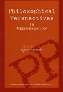 Philosophical Perspectives  Metaphysics PDF