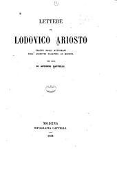 Lettere: tratte dagli autografi dell' Archivio palatino di Modena