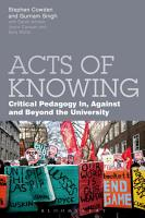 Acts of Knowing PDF