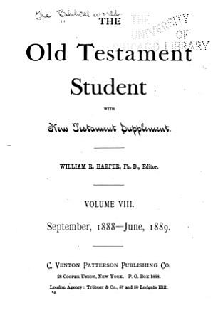 The Old Testament Student PDF