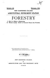 Forestry: Volumes 105-127