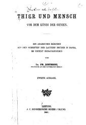 Arabisch-deutsches Handwörterbuch zum Koran und Thier und Mensch