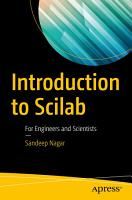 Introduction to Scilab PDF