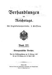 Verhandlungen des Reichstags: Band 227