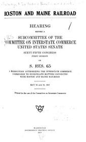 Federal Control of Systems of Communication: Hearings Before the Committee on Interstate Commerce, United States Senate, Sixty-fifth Congress, Second Session on H.J. Res. 309 ...