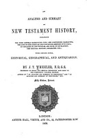 An Analysis and Summary of New Testament History PDF