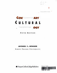 Contemporary Cultural Anthropology