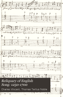 Reliquary of English Song  1250 1700 PDF