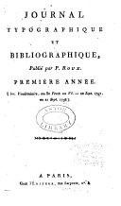Journal typographique et bibliographique...: Volume1