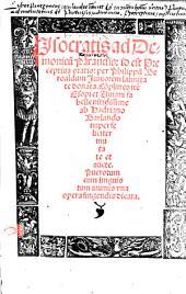 Isocratis ad Demonicu[m] Paranesis, id est Preceptiua oratio: Co[m]plures ite[m] Esopi et Auiani fabelle nitidissime ab Hadriano Barlando nuper feliciter mutate et aucte