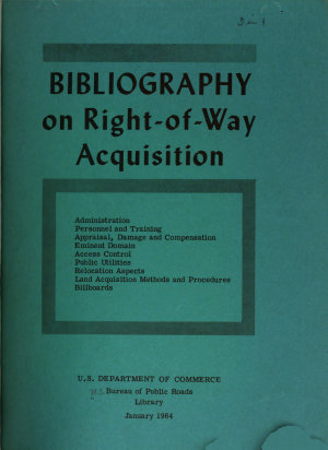 Bibliography on Right of way Acquisition PDF