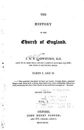 The History of the Church of England: Volume 1