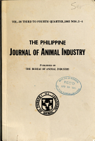The Philippine Journal of Animal Industry PDF