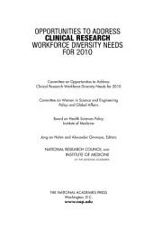 Opportunities to Address Clinical Research Workforce Diversity Needs for 2010