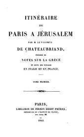 Itinéraire [de Paris À Jerusalem].
