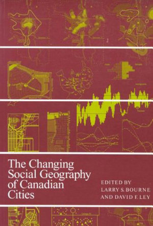 Changing Social Geography of Canadian Cities PDF