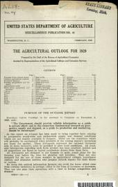 The Agricultural Outlook for 1929