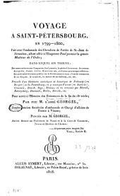 Voyage à Saint-Pétersbourg: en 1799-1800