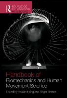Routledge Handbook of Biomechanics and Human Movement Science PDF