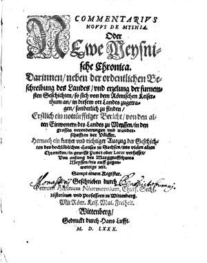 Newe Meysnische Chronica PDF