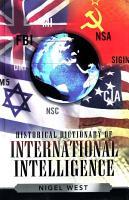 Historical Dictionary of International Intelligence PDF