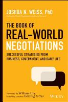 The Book of Real World Negotiations PDF