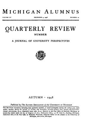 Quarterly Review of the Michigan Alumnus PDF
