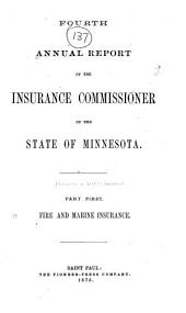 Annual Report of the Insurance Commissioner of the State of Minnesota: Volume 5