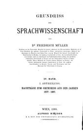 Grundriss der Sprachwissenschaft: Band 4