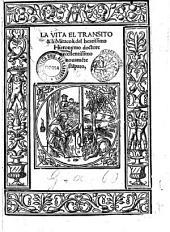 La Vita el transito & li miracoli del beatissimo Hieronymo doctore excellentissimo