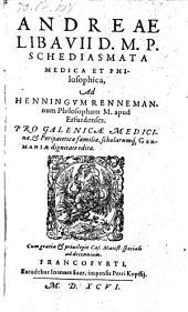 Schediasmata medica et philosophica