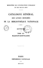 Catalogue général des livres imprimés de la Bibliothèque Nationale: auteurs