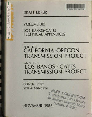 California Oregon Transmission Project and the Los Banos Gates Transmission Project  CA OR WA  PDF