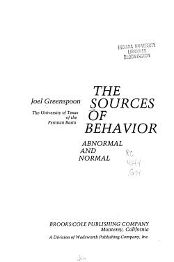 The Sources of Behavior PDF