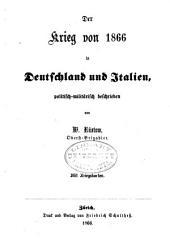 Der Krieg von 1866 in Deutschland und Italien: politisch-militarisch beschrieben, Band 1