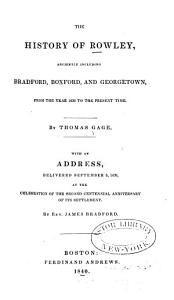 The History of Rowley Book
