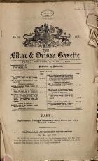 The Bihar   Orissa Gazette PDF